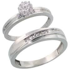 wedding ring set for sterling silver 2 diamond wedding engagement ring set for
