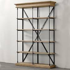 Iron And Wood Bookcase Country Wood Wood Mix And Match Loft Industrial Wind Iron Pine