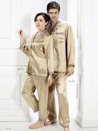 his hers silk pajamas couples matching silk pajamas