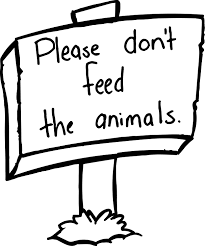 please dont fee the animals board sign coloring page wecoloringpage