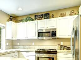 Top Of Kitchen Cabinet Decorating Ideas Decor For Top Of Kitchen Cabinets Modern Decor Above Kitchen