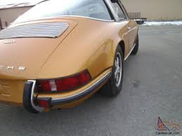 gold porsche convertible 1971 porsche 911t targa rare color excellent porsche