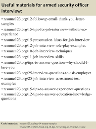 Armed Security Guard Resume Tell Me About Yourself The Right Answer Sample Interview