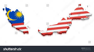 Map Of Malaysia Detailed Illustration Map Malaysia Flag Eps10 Stock Vector