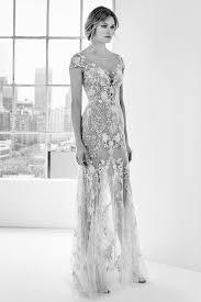 zuhair murad bridal heavily embellished shawl illusion sleeves wedding