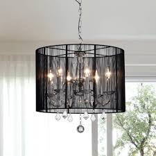 Crystal And Chrome Chandelier Chrome And Black 6 Light Crystal Chandelier Free Shipping Today