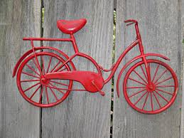 bicycle wall art red wall decor metal bicycle metal wall