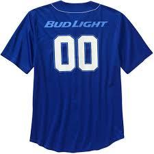 bud light baseball jersey bud light men s baseball jersey walmart com