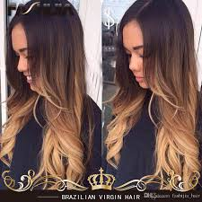 ombre 3 tone 1b 33 27 natural black brown honey blonde ombre hair