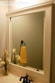 Mirror Trim For Bathroom Mirrors Framing A Mirror In A Bathroom Diy Framed Bathroom Mirror