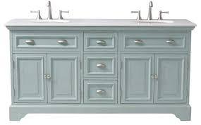 Double Vanity Antique Blue Farmhouse Bathroom Vanities And Sink - Bathroom cabinet vintage 2