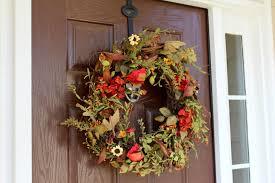 ten june a natural fall front door wreath u0026 a wreath giveaway for