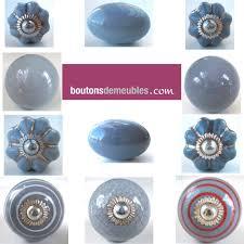bouton de porte cuisine boutons de meubles poignées de porte placard tiroir porcelaine gris