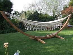 solid teak hammock stand and natural fabric hammock barbados