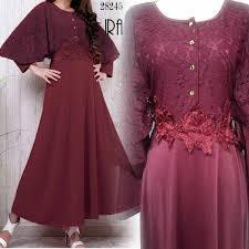 Baju Muslim Brokat baju gamis brokat kombinasi ira model baju gamis terbaru