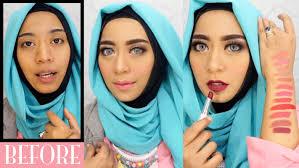 tutorial make up wardah untuk pesta wardah one brand makeup tutorial natural simple swatches 12