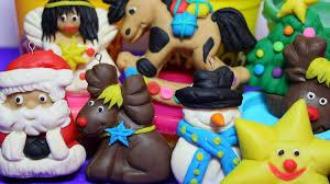 play doh easy decorations santa klaus