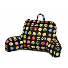 tv bed pillow emoji pals all over backrest pillow walmart com