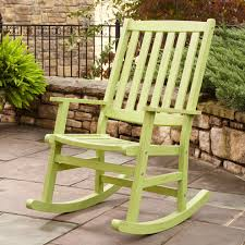 Wooden Outside Chairs Relaxing Patio Rocking Chair