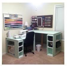 Corner Craft Desk Diy Counter Height Craft Table Bookshelves Ikea Crafts And