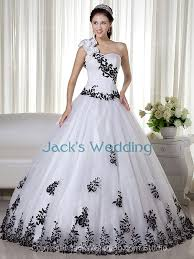 poofy wedding dresses poofy traditional corset beaded country black and white dropped