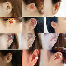 ear cuffs for pierced ears pierced ear cuff ebay
