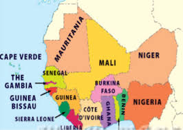 Gambia Africa Map by Petroforce Trading And Shipping Company