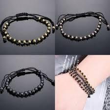 string bracelet men images Handmade knitted bracelet men jewelry 4mm beaded string adjustable jpg