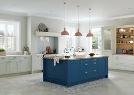 light blue kitchen cabinets uk blue and grey contemporary shaker kitchen og kitchens