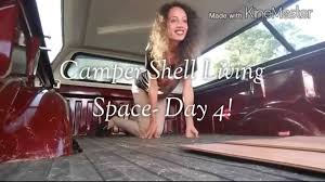 nissan frontier camper shell camper shell living space day 4 youtube