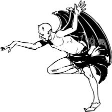halloween dance clipart clipart devil posing