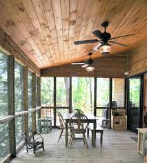 rustic ceiling fans porch traditional with kids table tongue and