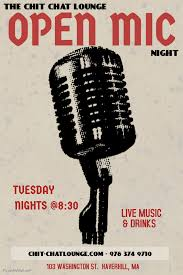 open mic flyer template open mic comedy night flyer template 2