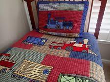 boys train bedding ebay