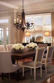 Chandeliers For Home Dining Room A Classic Dining Room Chandelier With Shades In A