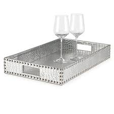 Silver Tray For Ottoman Everglades Rectangular Tray Trays Tableware Z Gallerie