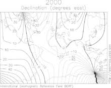 magnetic declination map magnetic declination wiktionary
