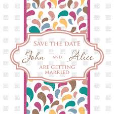 Wedding Invitation Cards Download Free Wedding Invitation Card With Colorful Petals Vector Image 45972