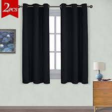 red and black curtains bedroom download page home design amazon com nicetown pitch black solid thermal insulated grommet