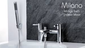 milano mirage bath shower mixer tap youtube