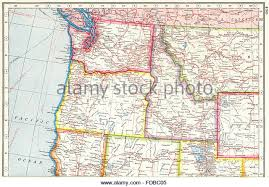 washington oregon idaho montana map stock photos washington