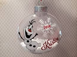olaf ornament frozen inspired personalized
