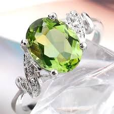 peridot engagement ring 2 carat vintage antique peridot engagement ring for
