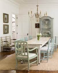 White Washed Kitchen Table by Turquoise Blue Dining Chairs With Whitewashed Dining Table