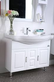 ideas solid wood bathroom vanity in elegant jomoo ceramic basin
