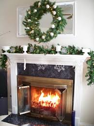 Elegant Christmas Mantel Decor by Living Room Interior Featured Red And White Christmas Decoration