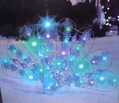 gemmy lighted peacock outdoor decoration with multicolor