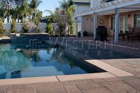 Pool Patio Pavers by Belgard Lafitt Rustic Slab Gallery San Diego Western Pavers