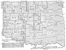 Map Oklahoma Okgenweb Oklahoma Land Openings 1889 1907