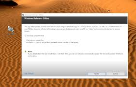 use windows defender offline remove tough viruses from your